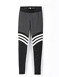 cheap -Women's Sporty Legging - Striped Mid Waist