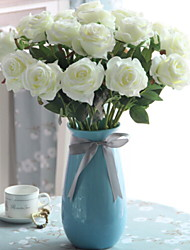 baratos -Flores artificiais 20 Ramo Clássico Moderno / Contemporâneo / Casamento Rosas Flor de Mesa