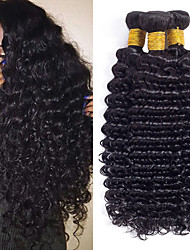 cheap -3 Bundles Brazilian Hair Deep Wave Human Hair Natural Color Hair Weaves / One Pack Solution / Human Hair Extensions 8-28 inch Human Hair Weaves Machine Made Soft / Hot Sale / Comfortable Natural Color