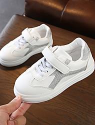 abordables -Fille Chaussures Polyuréthane Printemps été Confort Basket Marche Scotch Magique pour Adolescent Argent / Rose