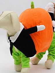 Недорогие -Собаки / Коты Декорации Одежда для собак Животное Оранжевый Хлопок Костюм Для домашних животных Женский / Мужской Хэллоуин