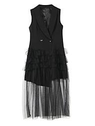 cheap -Women's Work Vintage / Military Vest - Solid Colored V Neck