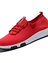 baratos -Homens sapatos Com Transparência Outono Conforto Tênis Preto / Cinzento Escuro / Vermelho