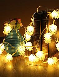 Недорогие -5м 50 светодиодов Рождество Хэллоуин декоративные фонари праздничные полосы света-эхинацея (220В)