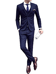 cheap -Men's Suits-Striped Peaked Lapel / Long Sleeve