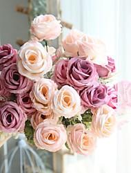 abordables -Fleurs artificielles 1 Une succursale Classique Rustique / Fleurs de mariage Roses Fleur de Table