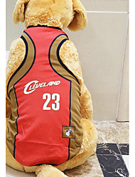 cheap -Rodents / Dogs / Cats Jersey / Vest Dog Clothes Simple / Flag / Letter & Number Yellow / Red / Light Green Net Costume For Pets Female Sports & Outdoors / Stylish