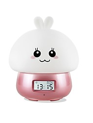 cheap -1pc Music Alarm Clock LED Night Light Colorful USB Remote Controlled / Rechargeable / Color-Changing 5 V