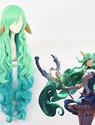 Недорогие -Косплей Косплей Все 44 дюймовый Термостойкое волокно Зеленый Аниме Косплэй парики