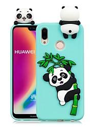 Недорогие -Кейс для Назначение Huawei P20 Pro / P20 lite Своими руками Кейс на заднюю панель Панда Мягкий ТПУ для Huawei P20 / Huawei P20 Pro / Huawei P20 lite / P10 Lite / P10