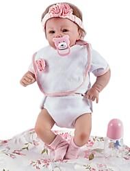 baratos -FeelWind Bonecas Reborn Bebês Meninas 20 polegada realista, Implantação artificial olhos azuis, Nozes vedadas e seladas de Criança Para Meninas Dom