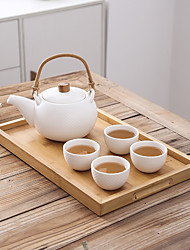 cheap -Drinkware Porcelain / Wooden / Bamboo Tea Cup / Tea & Beverage / Water Pot & Kettle Heat-Insulated 5 pcs