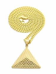 cheap -Men's Vintage Style / Cuban Link Pendant Necklace / Chain Necklace - Titanium Steel Tower, Precious Vintage, Punk, Hip-Hop Gold 70 cm Necklace 1pc For Carnival, Street
