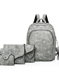baratos -Mulheres Bolsas PU Conjuntos de saco Conjunto de bolsa de 4 pcs Urso / Cor Única Rosa / Cinzento / Marron
