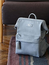 cheap -Women's Bags PU(Polyurethane) School Bag Zipper Brown / Black / Purple