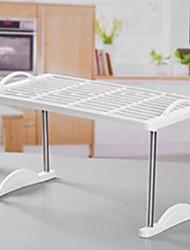 baratos -Organização de cozinha Titulares de panelas Plástico Armazenamento / Gadget de Cozinha Criativa 1pç