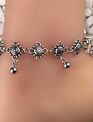 economico -Vintage Alla moda braccialetto alla caviglia - Fiore decorativo Stile Boho, Tropicale, Di tendenza Argento Per Per eventi Per uscire Per donna
