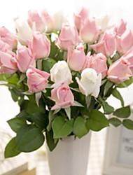 baratos -Flores artificiais 20 Ramo Clássico Moderno / Contemporâneo / Estilo simples Rosas Flor de Mesa