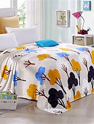 Недорогие -Одеяла, Растения Хлопок / полиэфир Сгущать одеяла