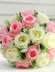 baratos -Flores artificiais 1 Ramo Clássico Casamento / buquês de Noiva Rosas Flor de Mesa