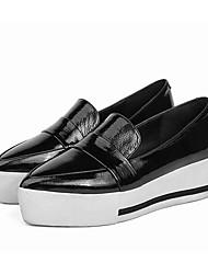 abordables -Femme Chaussures Cuir Nappa Printemps / Automne Confort Mocassins et Chaussons+D6148 Creepers Noir / Rose