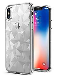 baratos -Capinha Para Apple iPhone X / iPhone 8 Plus Ultra-Fina / Transparente Capa traseira Sólido Macia TPU para iPhone X / iPhone 8 Plus / iPhone 8