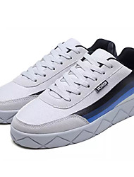 cheap -Men's Light Soles Canvas / PU(Polyurethane) Summer Sneakers Color Block White / Black / Gray