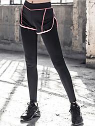 billige -Dame Daglig Sports Legging - Ensfarvet Høj Talje