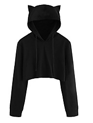 cheap -Women's Going out Hoodie - Solid Colored