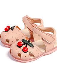 abordables -Chica Zapatos PU Primavera verano Primeros Pasos Sandalias Cuentas para Bebé Blanco / Rosa / Azul Piscina+Rosado