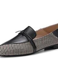 abordables -Femme Chaussures Cuir Nappa Printemps / Automne Confort Mocassins et Chaussons+D6148 Talon Bas Noir / Beige / Marron