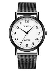 Недорогие -Geneva Жен. Наручные часы Китайский Новый дизайн / Повседневные часы / Cool сплав Группа На каждый день / Мода Черный / Один год