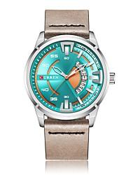 Недорогие -Муж. Спортивные часы Японский Кварцевый Натуральная кожа Черный / Синий / Коричневый 30 m Защита от влаги Календарь Секундомер Аналоговый Кольцеобразный Мода - Коричневый Зеленый Синий / Два года