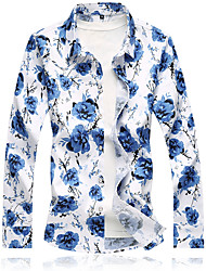 economico -Camicia Per uomo Essenziale Con stampe, Fantasia floreale
