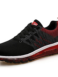 cheap -Women's Shoes Elastic Fabric Fall & Winter Comfort Athletic Shoes Running Shoes Flat Heel Black / Light Pink