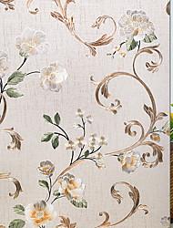 Недорогие -Оконная пленка и наклейки Украшение С цветами Цветочный принт ПВХ Стикер на окна / Для гостиной / Ванная комната