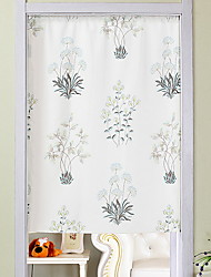 abordables -Puerta Panel Cortinas cortinas Sala de estar Floral Algodón / Poliéster Impreso