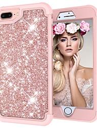 economico -Custodia Per Apple iPhone X / iPhone 8 Resistente agli urti / Glitterato Integrale Glitterato Resistente PC per iPhone X / iPhone 8 Plus / iPhone 8