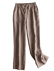 cheap -women's slim chinos pants - solid colored