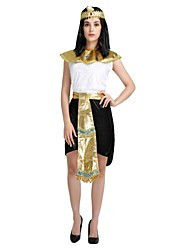 cheap -Egyptian Costume Outfits Women's Halloween / Carnival / Children's Day Festival / Holiday Halloween Costumes Black Solid Colored / Halloween Halloween