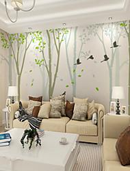 abordables -fond d'écran / Mural Toile Revêtement - adhésif requis arbres / Feuilles / Décoration artistique / Carreau vernisé
