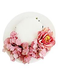 baratos -Tecidos Chapéus / Decoração de Cabelo com Floral 1pç Casamento / Ocasião Especial Capacete