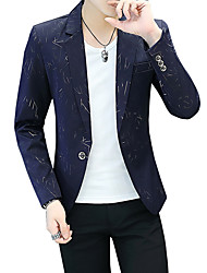 cheap -Men's Blazer-Striped Peaked Lapel / Long Sleeve