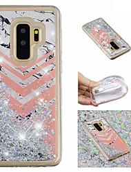 ieftine -Maska Pentru Samsung Galaxy S9 Plus / S9 Scurgere Lichid / Model / Luciu Strălucire Capac Spate Luciu Strălucire / Marmură Moale TPU pentru S9 / S9 Plus / S8 Plus