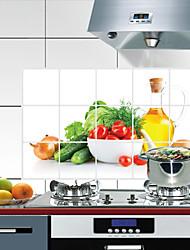 baratos -Cozinha Produtos de limpeza PVC Autocolantes à prova de óleo Tratamento Anti-Manchas / Impermeável 1pç