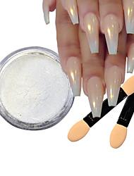 baratos -5pçs Dicas de unhas artificiais Purpurina Design Moderno arte de unha Manicure e pedicure Retro Festa de Casamento / Roupa Diária