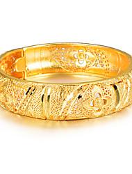 Недорогие -Жен. Скульптура Браслет цельное кольцо Браслет разомкнутое кольцо - Позолота Дамы, Этнический Браслеты Бижутерия Золотой Назначение Для вечеринок Подарок