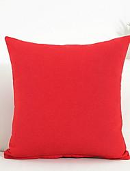 cheap -1 pcs Cotton / Linen Pillow, Solid Colored Simple