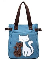 cheap -Women's Bags Canvas Tote Beading / Zipper Purple / Coffee / Khaki