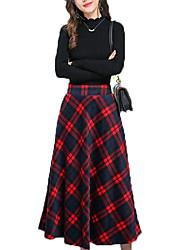 cheap -Women's Set - Check Skirt